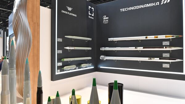 Стенд корпорации Ростех на выставке оборонной промышленности IDEX-2021 в Абу-Даби