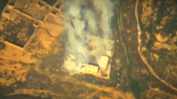Опубликовано видео ударов беспилотника Орион по террористам в Сирии