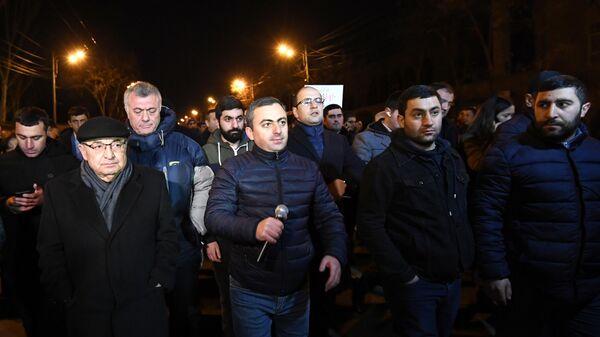 Акция протеста против премьера Армении Никола Пашиняна