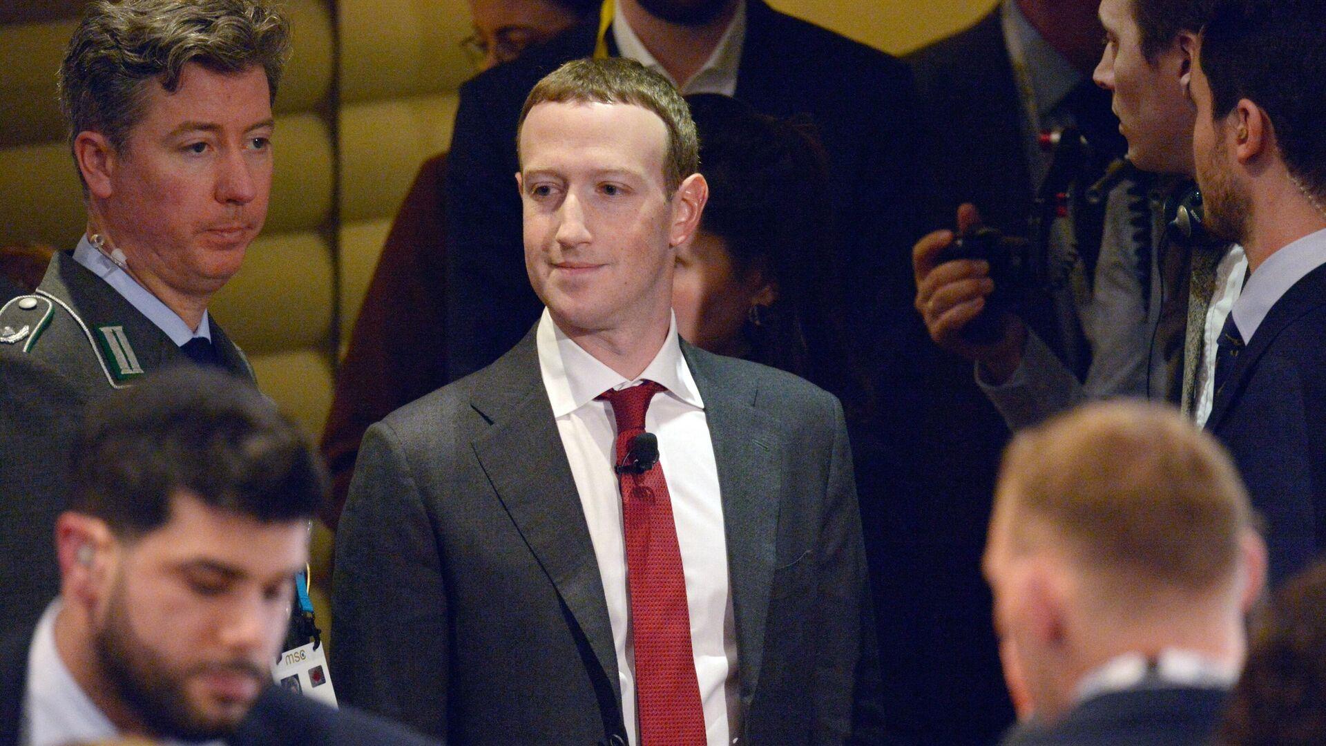 Создатель крупнейшей мировой социальной сети Facebook Марк Цукерберг - РИА Новости, 1920, 04.10.2021