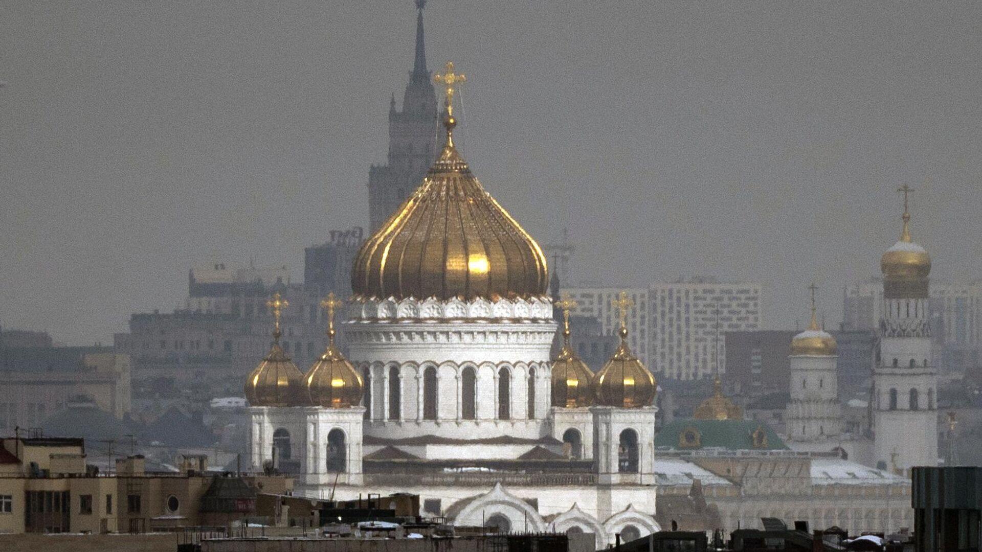 Вид на Храм Христа Спасителя - РИА Новости, 1920, 05.08.2021
