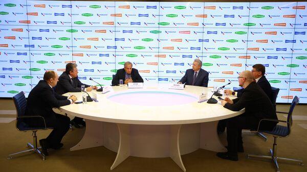 Заместитель гендиректора по контентной политике Триколора Николай Орлов на онлайн-пресс-конференции на площадке МИА Россия сегодня