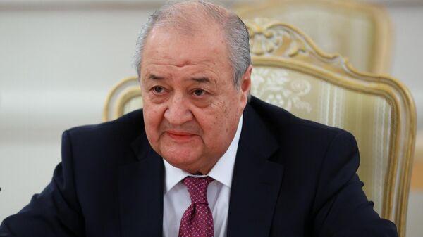 Министр иностранных дел Узбекистана Абдулазиз Камилов во время встречи в Москве с министром иностранных дел РФ Сергеем Лавровым