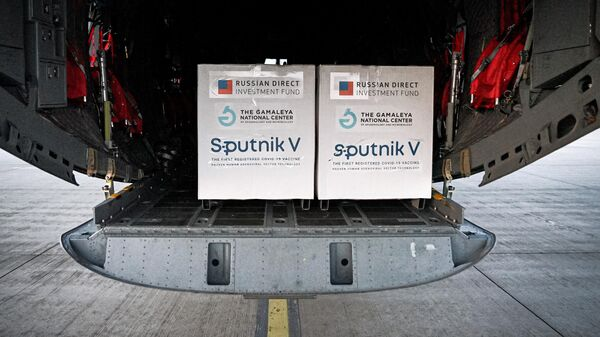Первая партия российской вакцины от коронавируса Спутник V, доставленная в Словакию