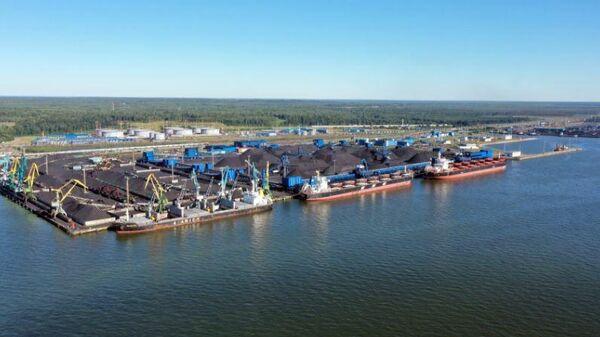 Морской порт Усть-Луга расположен в Ленинградской области