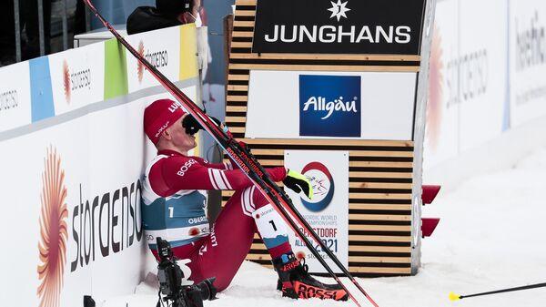 Александр Большунов (Россия) на чемпионате мира-2021 по лыжным видам спорта в немецком Оберстдорфе