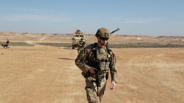 Американские военные на авиабазе Айн-эль-Асад в провинции Анбар, Ирак