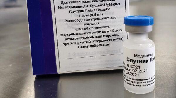Упаковка однокомпонентной вакцины от COVID-19 Спутник Лайт