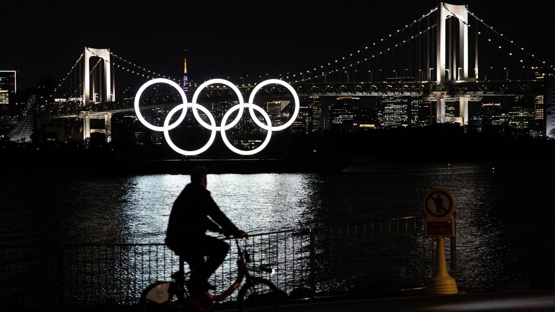 Олимпийские кольца в Токио - РИА Новости, 1920, 17.07.2021