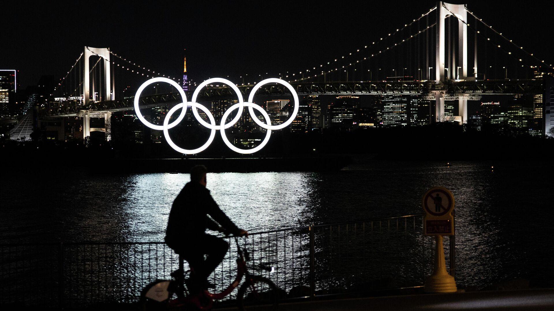 Олимпийские кольца в Токио - РИА Новости, 1920, 20.03.2021