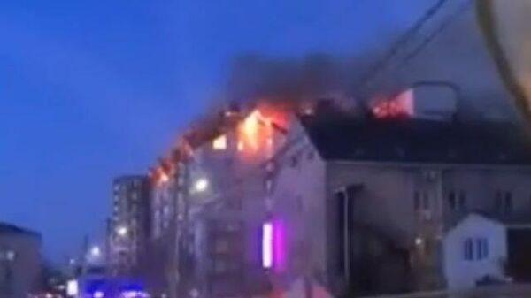 Пожар в жилом доме в Анапе