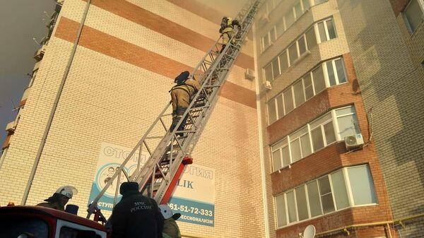 Пожар в многоэтажном жилом здании в городе Анапа