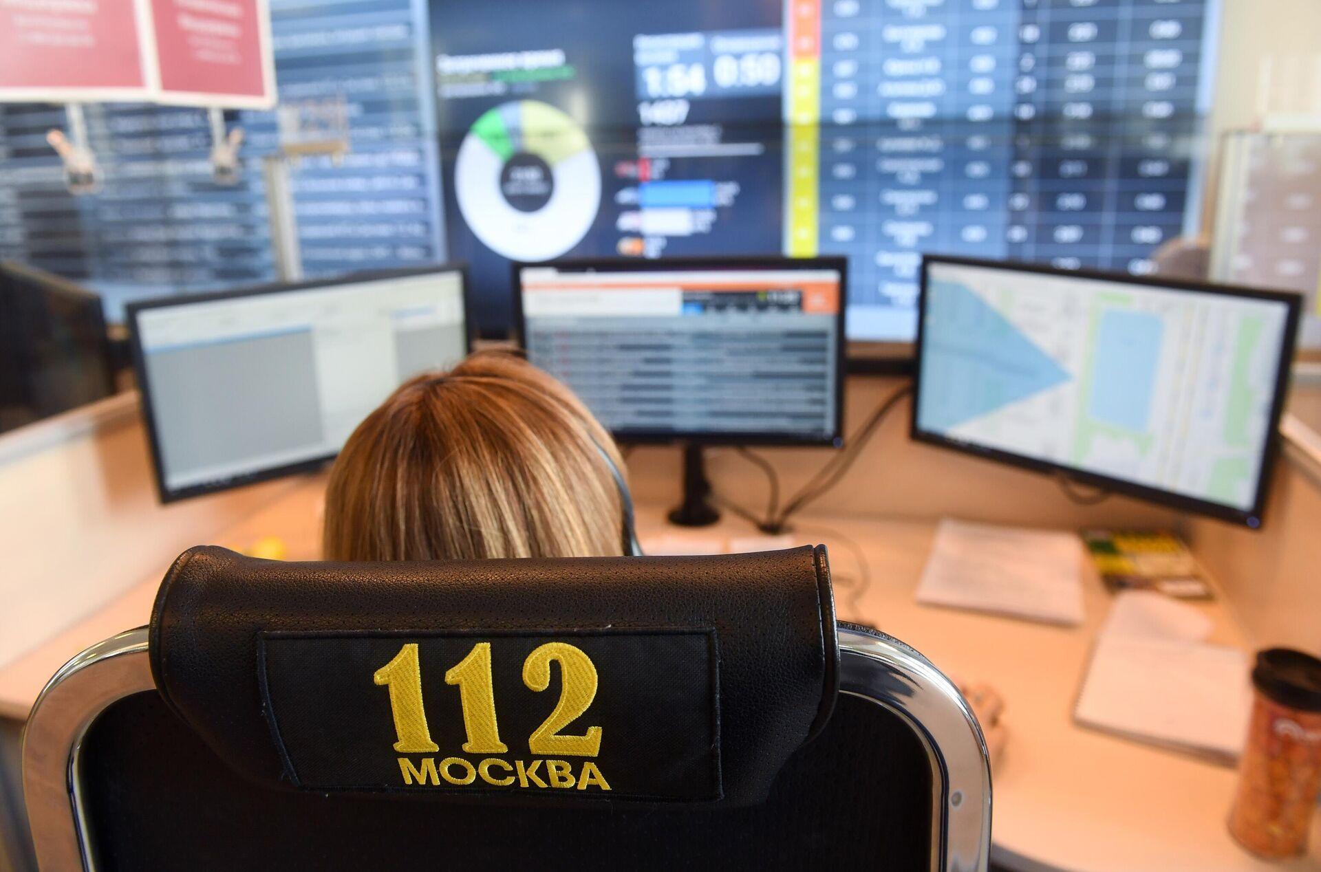 Работа Службы 112 Москвы - РИА Новости, 1920, 15.03.2021