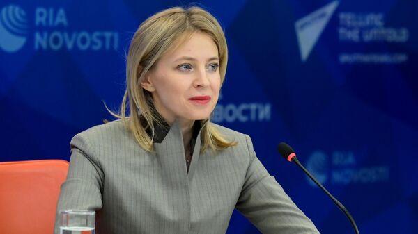 Наталья Поклонская во время брифинга в Международном мультимедийном пресс-центре МИА Россия сегодня
