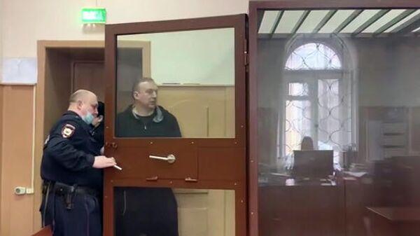 Президент Федерации синхронного плавания России Алексей Власенко, обвиняемый в особо крупном мошенничестве, во время избрания меры пресечения в Басманном суде Москвы
