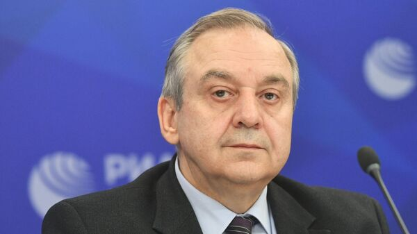 Заместитель председателя Совета министров Республики Крым Георгий Мурадов в Международном мультимедийном пресс-центре МИА Россия сегодня