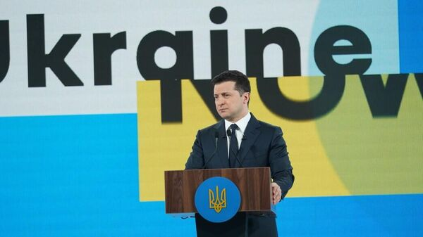 Президент Украины Владимир Зеленский на Всеукраинском форуме Украина 30. Культура, медиа, туризм