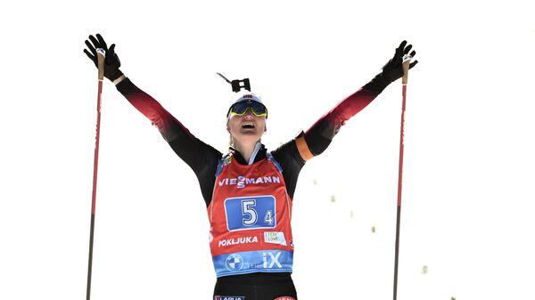 Норвежская биатлонистка Марте Олсбю-Ройселанд