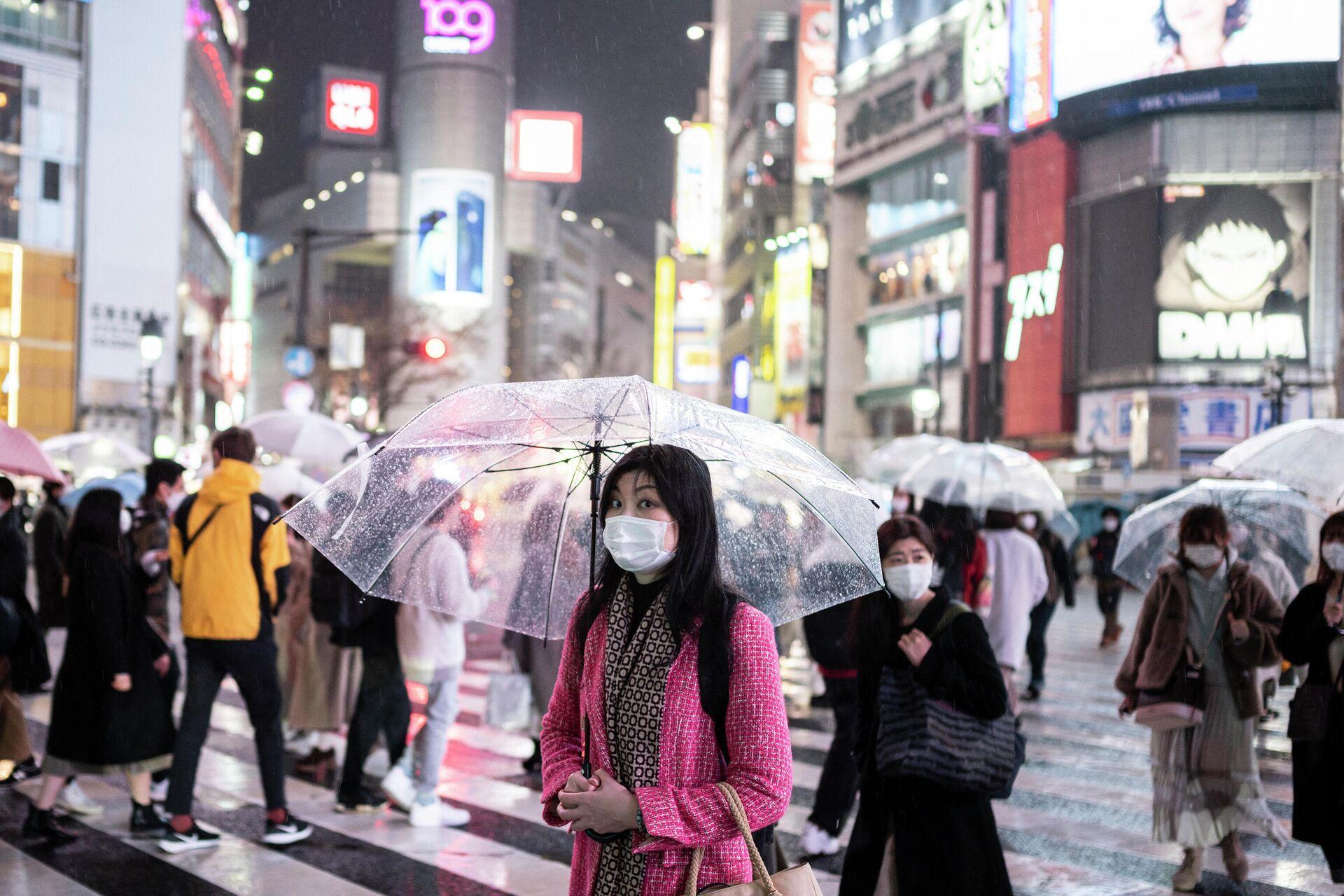 Жители Токио во время пандемии коронавируса - РИА Новости, 1920, 20.03.2021