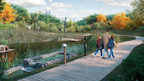 Проект Парка Яуза на северо-востоке Москвы