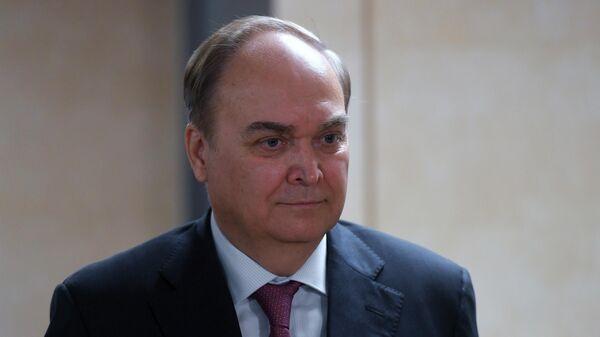 Посол РФ в США Анатолий Антонов во время брифинга в Государственной Думе РФ в Москве