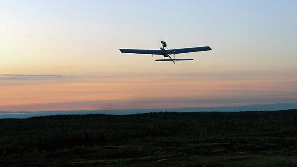 Российский беспилотный летательный аппарат во время ночного этапа военных учений Ладога 2009 на полигоне Каменка в Ленинградской области