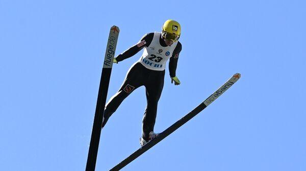 Ирина Аввакумова принимает участие в Летнем чемпионате России по прыжкам на лыжах с трамплина в Сочи.