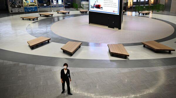 Зона вылета в международном терминале аэропорта Нарита, префектура Тиба, Япония