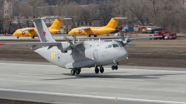 Второй полет нового российского военно-транспортного самолета Ил-112В