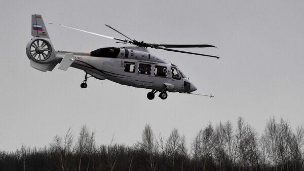 Полет вертолета Ка-62 в рамках сертификационных испытаний