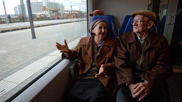 Пассажиры электропоезда Ласточка
