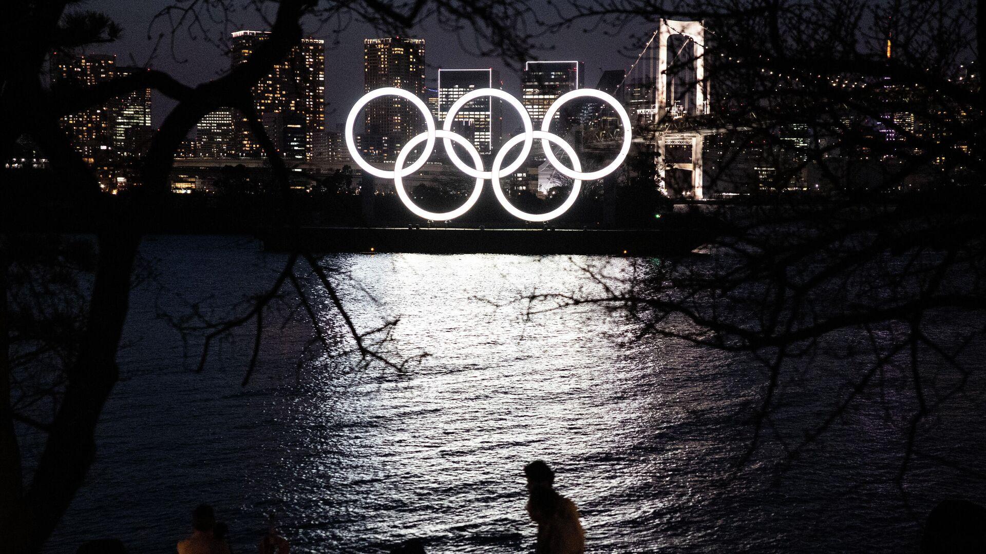 Олимпийские кольца в Токио - РИА Новости, 1920, 20.06.2021