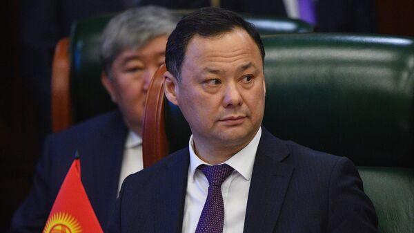 Министр иностранных дел Киргизии Руслан Казакбаев принимает участие в заседании Совета министров иностранных дел стран Содружества Независимых Государств в широком составе