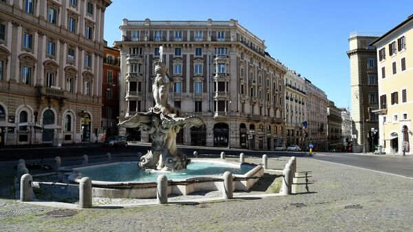 Фонтан Тритона на площади Барберини в Риме