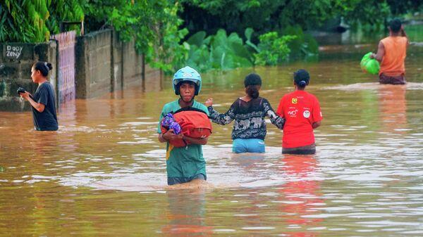 Наводнение в Восточном Тиморе. 4 апреля 2021
