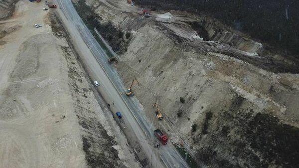 Грунт на строительства трассы Таврида в Крыму