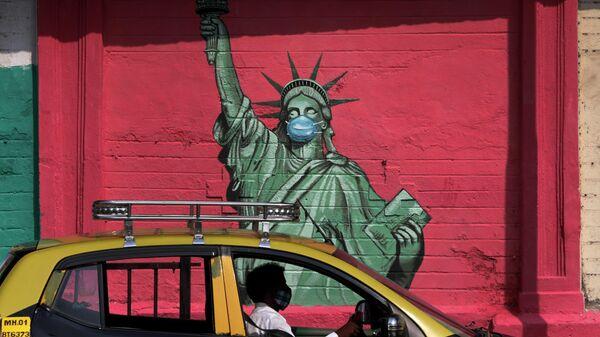 Граффити с изображение статуи Свободы