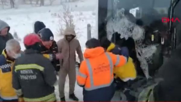Видео с места смертельного ДТП с россиянами в Турции