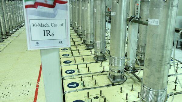 Центрифуги на заводе по обогащению урана в Натанзе