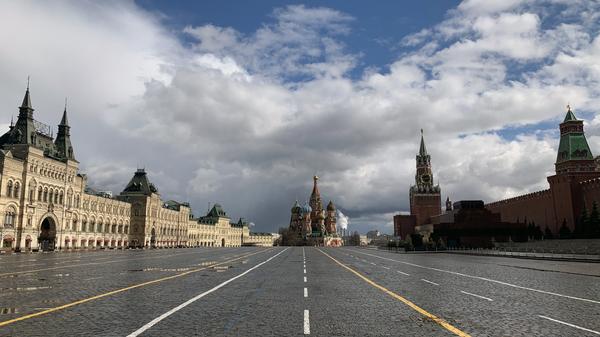 Красная площадь в Москве 17 апреля 2020 года