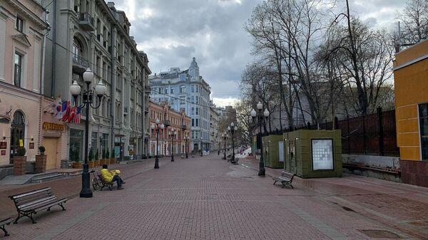 Арбат в Москве 17 апреля 2020 года