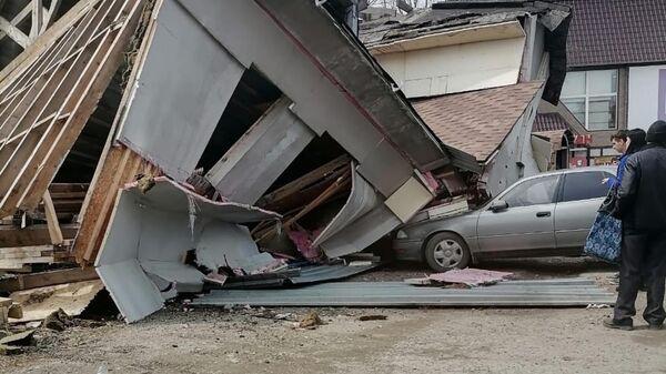 На месте обрушения фанерного здания в Лесозаводске