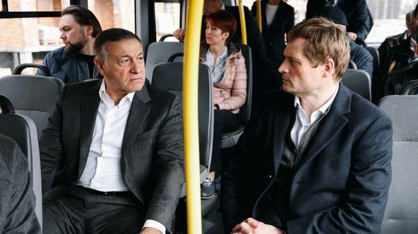 Президент Crocus Group Араз Агаларов и глава Фонда дольщиков Константин Тимофеев