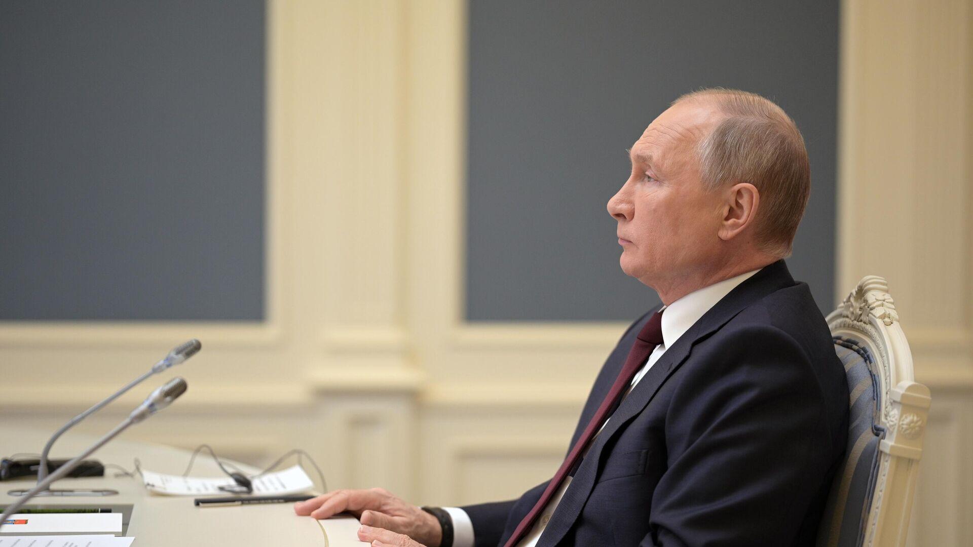 Президент РФ Владимир Путин принимает участие в Саммите лидеров по вопросам климата в формате видеоконференции - РИА Новости, 1920, 01.05.2021
