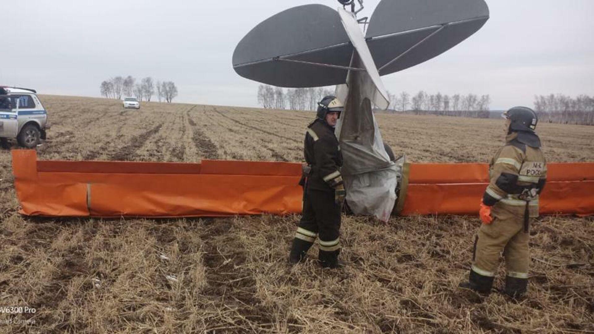 Место падения легкомоторного самолета в Иркутской области - РИА Новости, 1920, 19.06.2021