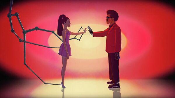 Кадр из клипа The Weeknd & Ariana Grande - Save Your Tears (Remix)