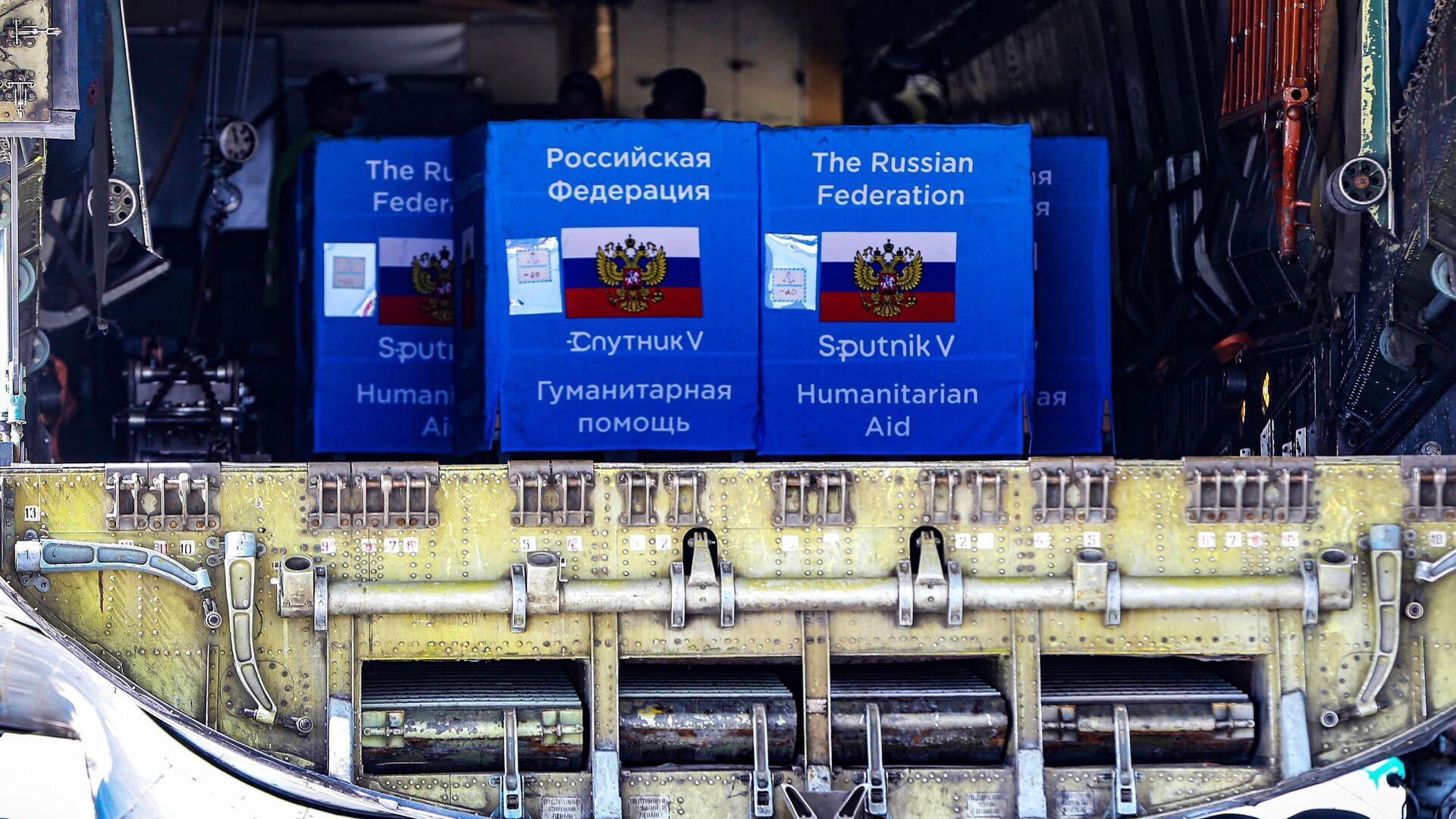 Партия вакцины Sputnik V в аэропорту Кишинева - РИА Новости, 1920, 04.08.2021
