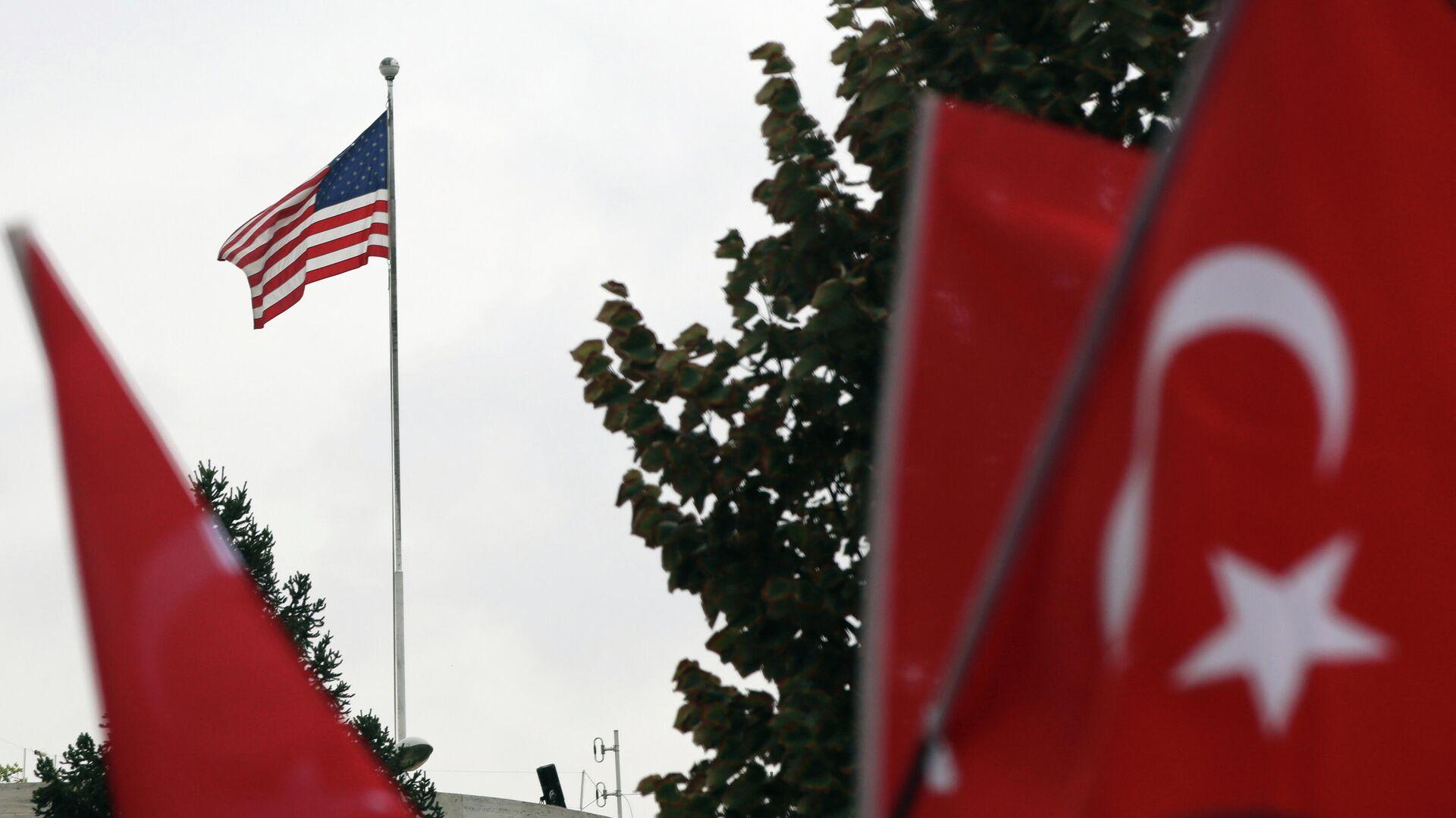Акция протеста у здания посольства США в Анкаре, Турция - РИА Новости, 1920, 29.04.2021