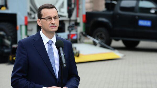 Премьер-министр Польши Матеуш Моравецки в Варшаве