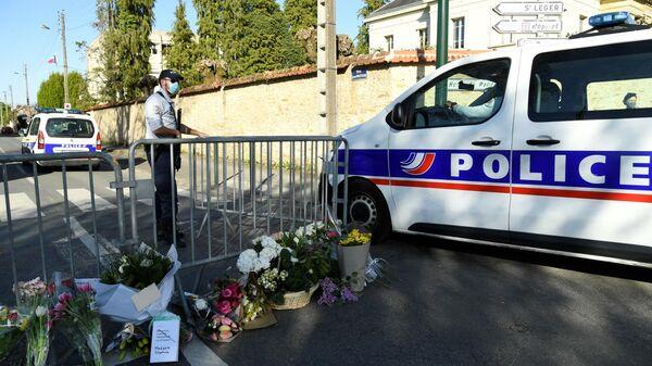 Место убийства сотрудницы комиссариата во французском Рамбуйе